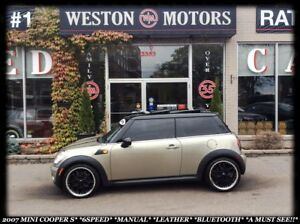 2007 MINI Cooper 6SPEED*POWER GROUP*LEATHER*BLUETOOTH*PAN SUNROO