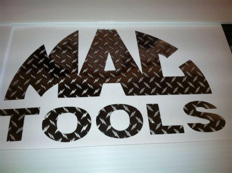 MAC TOOLS 6.5x12 Diamond Plate Tool Box Emblem VINYL TRUCK WINDOW DECAL STICKER