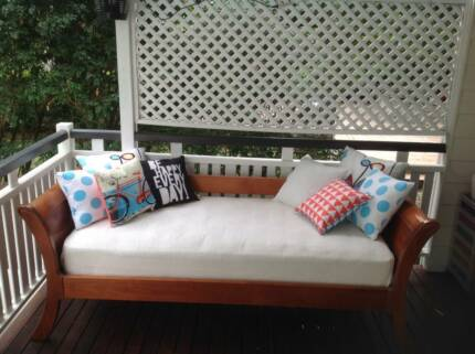 Timber day bed with single sealy mattress Ashgrove Brisbane North West Preview