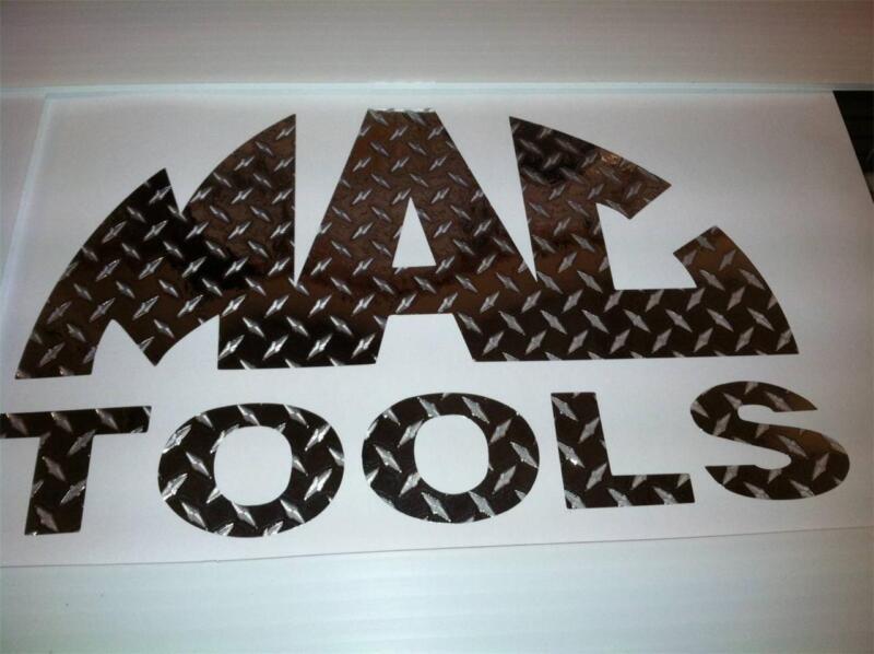 DIAMOND PLATE MAC TOOLS Tool Box Emblem 3x6  CAR TRUCK TOOL BOX DECAL STICKER