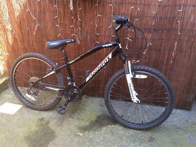 "Boys 24"" Bike Muddy Fox Prevail Shimano Gears Suspension Black Mountain Bicycle"