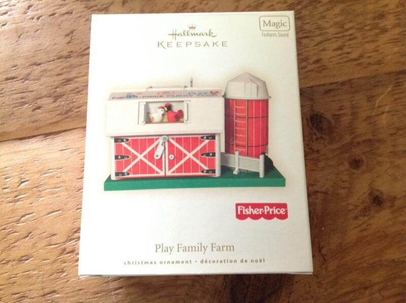 Hallmark Keepsake Ornament 2008 Fisher Price Play Family Farm Magic Sound MIB