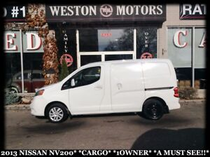 2013 Nissan NV200 SV*CARGO*1OWNER*A MUST SEE!!*