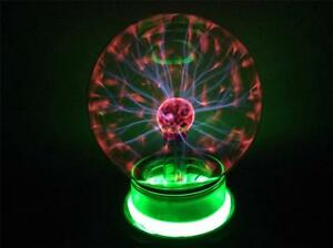 PLASMA-LIGHTNING-4-INCH-BALL-party-lights-static-lite-ELECTRIC-LIGHT-GLASS-NEW