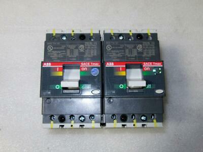 New Lot Of 2 Abb Sace T1n 100 Tmax 3-pole 60amp 240v Circuit Breakers