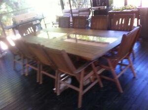 11 Piece Outdoor Timber Setting. High Quality. Casino Richmond Valley Preview