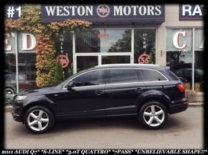 2011 Audi Q7 S-LINE*3.0T QUATTRO*7PASS*UNBELIEVABLE SHAPE!!*