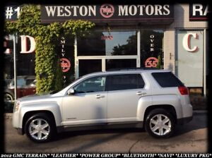2012 GMC Terrain LEATHER*PWR GROUP*BLUETOOTH*NAVI*LUXURY PKG*