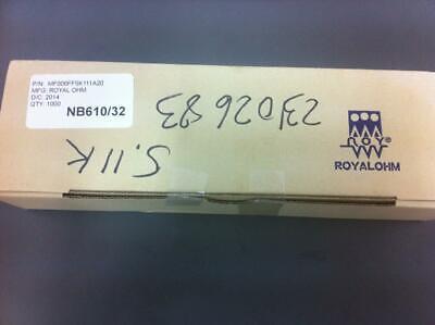 MF006FF5K111A20 - ROYAL OHM - 1000 pcs LOT, Resistor 5K11 T.H. 0.6W 1% 50