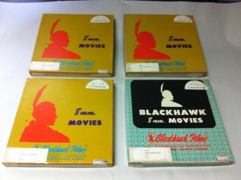 ADOLF HITLER CHAPTER 1 TO 4 BLACKHAWK FILMS RARE SUPER 8MM MOVIE