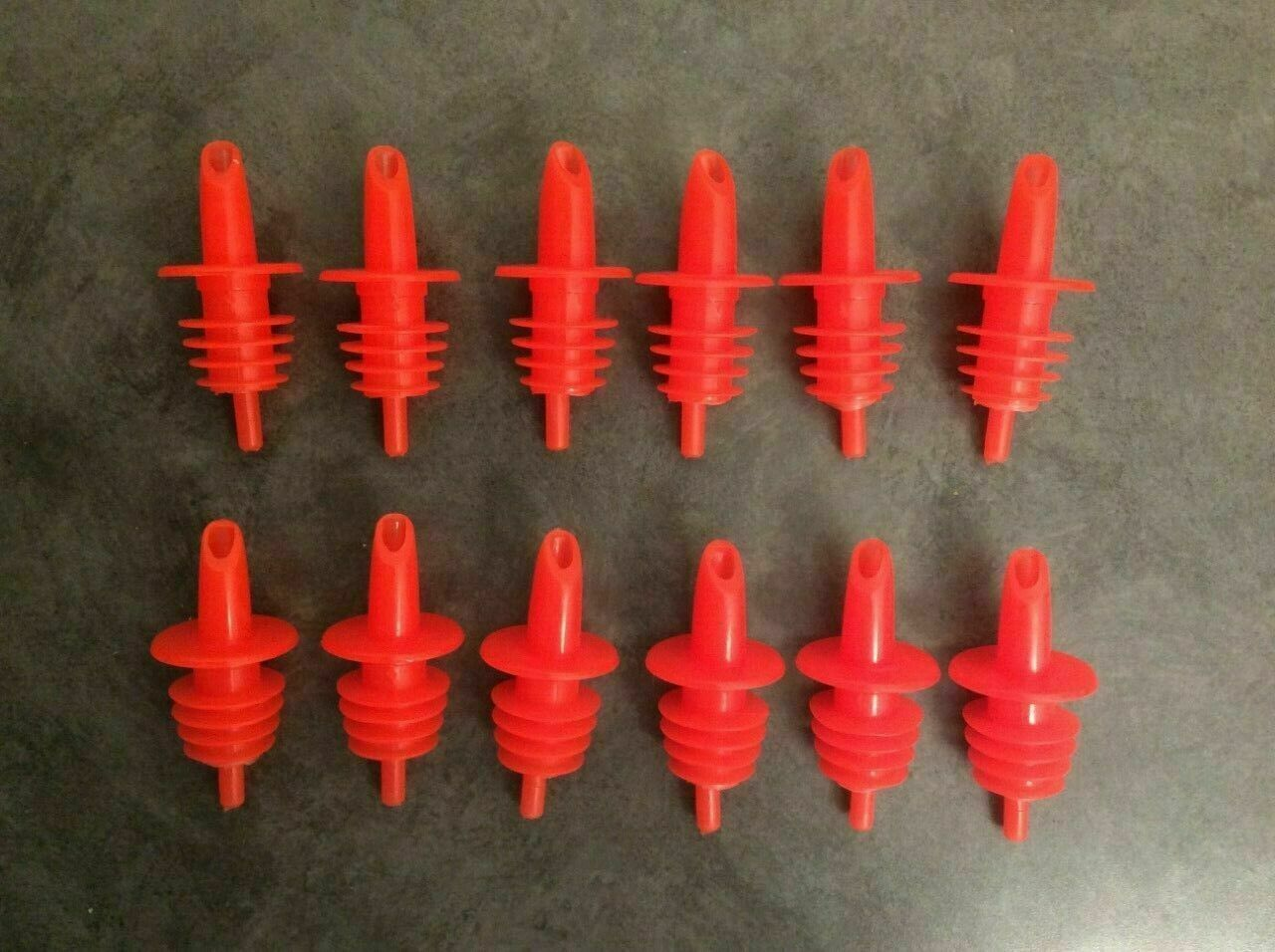 Shaved IceSnow Cone Bottle Pour Liquor Spout Red Count of 12 Neon Orange