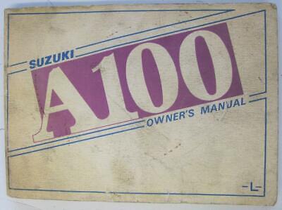 Suzuki A100 L Jun 1974 #73-11 Motorcycle Owners Handbook