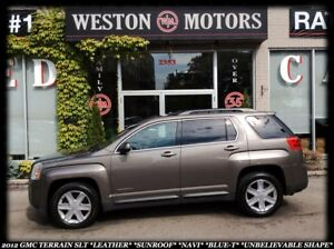 2012 GMC Terrain SLT *LEATHER *SUNROOF *NAVI *BLUE-T *GREAT SHAP