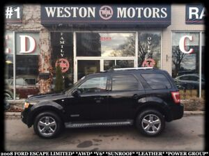 2008 Ford Escape LIMITED*AWD*V6*SUNROOF*LEATHER*PWR GROUP*