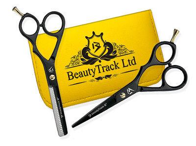 "Black Hair Cut Thinning Barber Scissor Set Hairdressing Salon Limited Edition 6"""