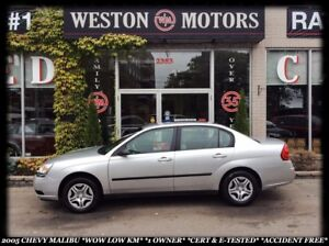 2005 Chevrolet Malibu WOW LOW KM*1OWNER*CERT&E-TESTED*ACCIDENT F