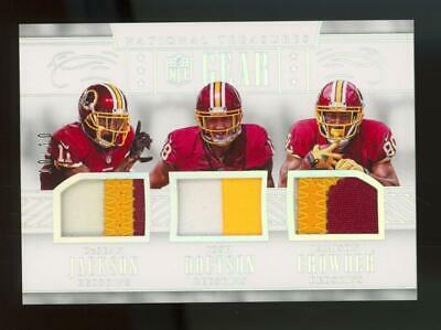 2016 National Treasures NFL Gear #5 Jackson Doctson Crowder 10/10 Patch