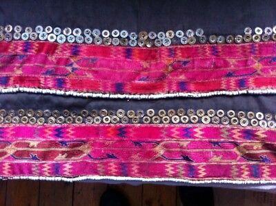 antique tribal nomad Afghan dress sleeve panels