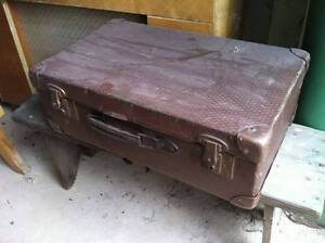Vintage Antique Brown Suitcase Bag made in Australia retro Thornbury Darebin Area Preview