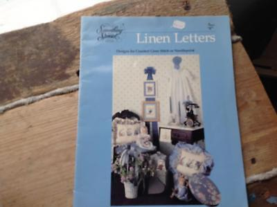 Designs for Counted Cross Stitch or Needlepoint. LINEN LETTERS Something special (Designs For Letters)