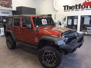 2014 Jeep Wrangler Unlimited SPORT/ V6 4X4/UNIQUE/**136$SEM./GAR