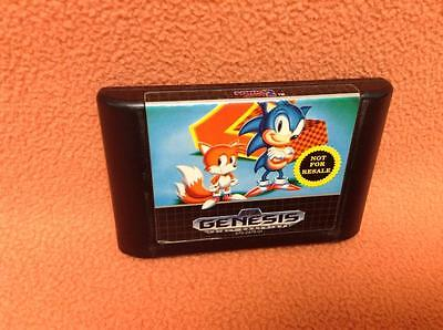 Sonic The Hedgehog 2  Authentic  Sega Genesis Game Free Shipping