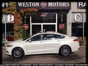 2013 Ford Fusion SE*ECOBOOST*AWD*BLUETOOTH*LEATHER*SUNROOF*