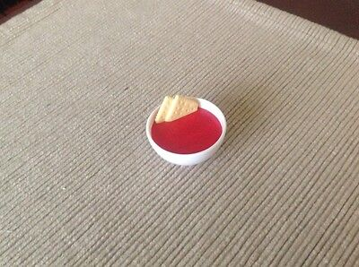 """18"""" doll food tomato soup crackers bowl fits American Girl Our Generation toy"""