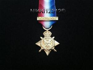 MINIATURE-WW1-1914-STAR-WITH-MONS-BAR-A-SUPERB-HIGH-QUALITY-DIE-STRUCK-MEDAL