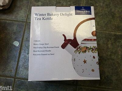 Villeroy & Boch WINTER BAKERY DELIGHT Whistling Tea Kettle