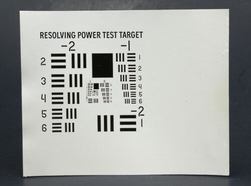 """Resolving Power Test Target  *Optical Resolution Test Target*  4"""" x 5"""" Glossy"""
