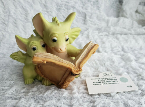 Whimsical World Of Pocket Dragons READING THE GOOD PARTS 1992 Real Musgrave