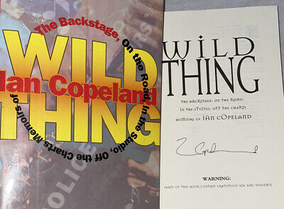 SIGNED 2X Wild Thing Book Ian Copeland The Backstage on the Road HC DJ