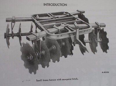 Ih Mccormick International 60 1pt 3pt Folding Tandem Disk Harrow Owners Manual