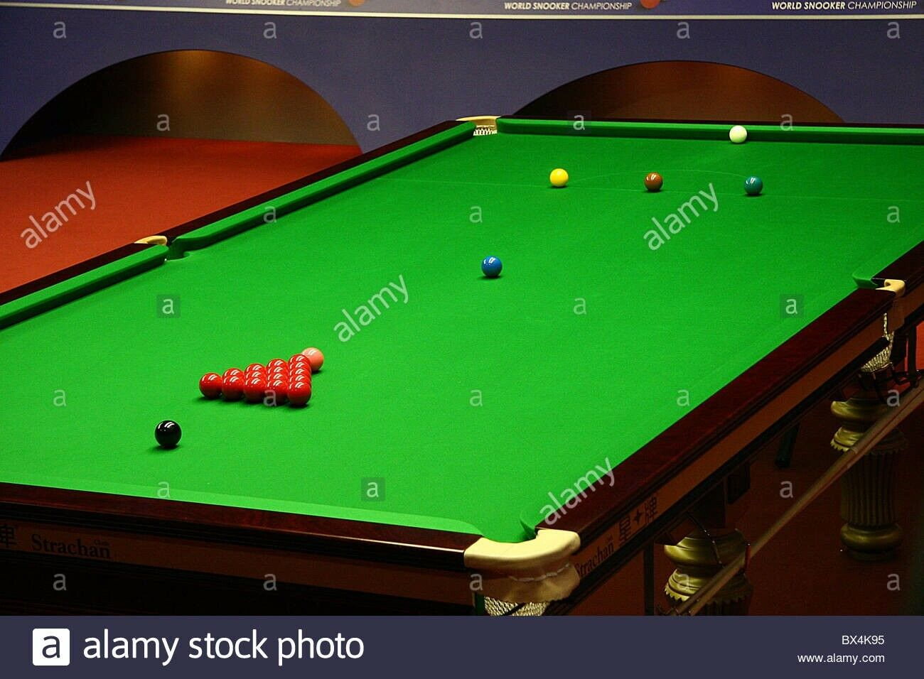 Snooker Table full size - Mahogany Turned Leg, fair condition