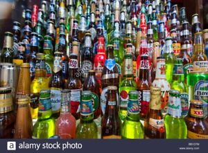 Collecting beer bottles