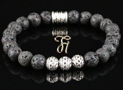 t Perlenarmband Silber Beads Buddha schwarz 8mm (Perlen Armbänder)