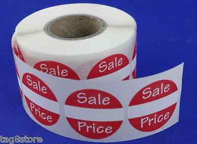 500 Self-adhesive Sales Price Round Retail Labels 1 Stickers Tags - Sale Retail