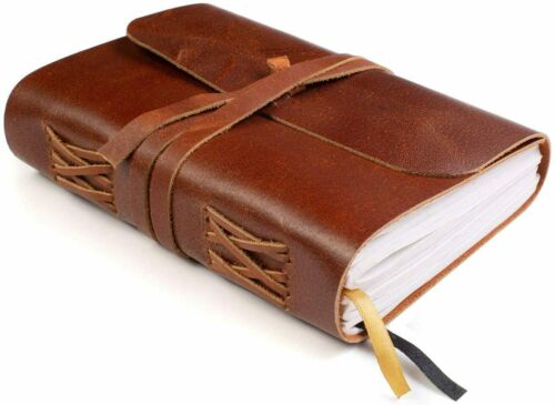 """Lined Leather Bound Journal for Women and Men, Lined Paper, Genuine Leather 7x5"""""""