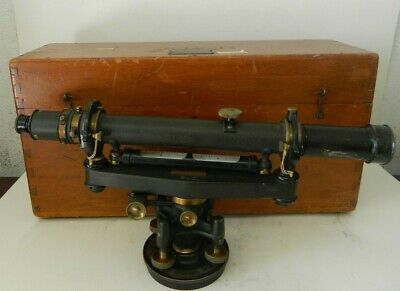 Vintage The A. Lietz Co. 10271 Surveying Transit Level W Wooden Case