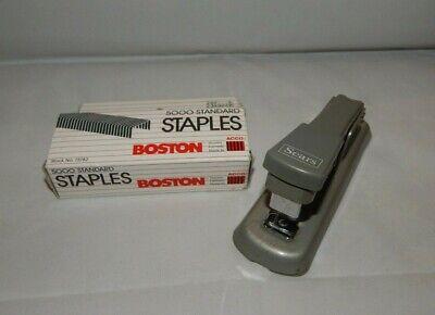 Vtg Sears Store Stapler With Open Box Of Boston Standard Staples Desktop Office