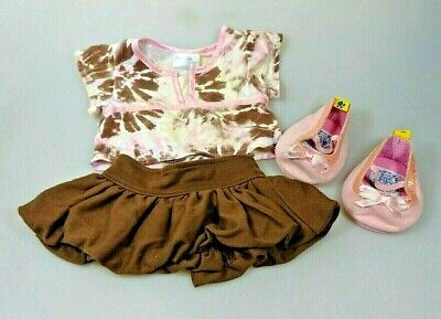Build A Bear Kleidung Outfit 3-teilig Rock Oberteil - Rosa Rock Outfit