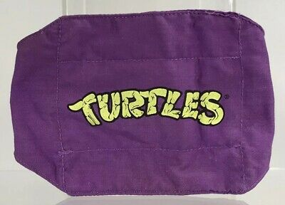 Vintage 1988 TMNT Costume Donatello Don Knee Pad Elbow Kids Set Purple Variant](Tmnt Donatello Costume)