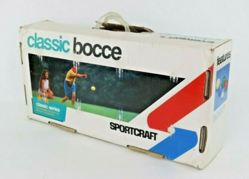 Vintage Sportcraft ClassicBocce Ball Set Italy NEW in Box Complete NOS