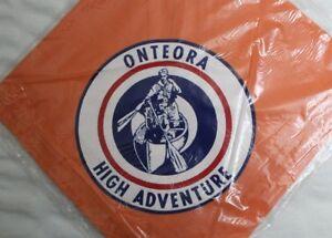 D4 BSA, Camp Onteora 1960s High Adventure Neckerchief, Nassau County New York NY