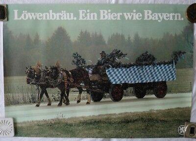 Plakat Poster - Löwenbräu - Ein Bier wie Bayern - Oktoberfest Brauereiwerbung