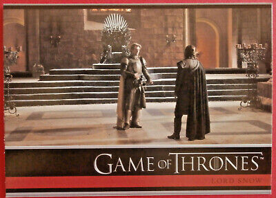 GAME OF THRONES - Season 1 - Card #07 - LORD SNOW - Rittenhouse 2012
