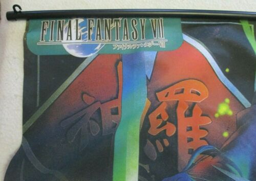 "VINTAGE FINAL FANTASY 7 VII WALL SCROLL VERSUS POSTER ART WORK RARE! 30"" x 44"""