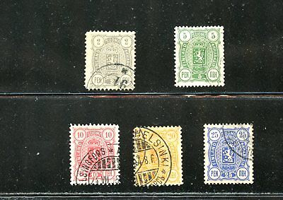 LOT 68877 USED  38 39 40 41 42  STAMPS FINLAND