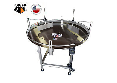Furex 36 Dia. Stainless Steel Accumulating Rotary Table With Unscrambler Unit